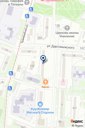 АТС-51/1 на карте Нижнего Новгорода