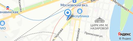 Московская Аптека №4 на карте Нижнего Новгорода