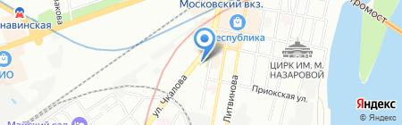 Любимчик на карте Нижнего Новгорода