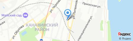 1First на карте Нижнего Новгорода