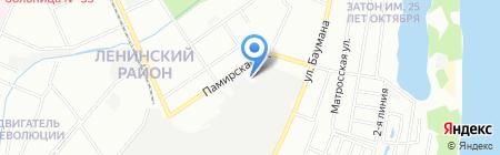 СТО на Памирской на карте Нижнего Новгорода