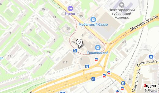Kolibrik. Схема проезда в Нижнем Новгороде