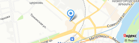 Фортунато на карте Нижнего Новгорода