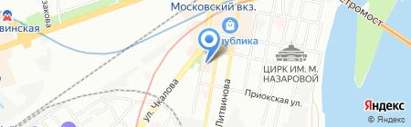 Магазин бижутерии и товаров для рукоделия на карте Нижнего Новгорода