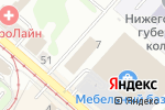 Схема проезда до компании Метеор-НН в Нижнем Новгороде