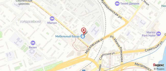 Карта расположения пункта доставки Нижний Новгород Гордеевская в городе Нижний Новгород