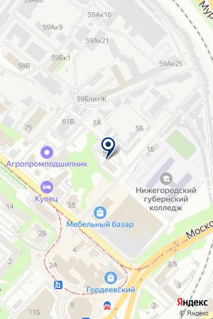 ТРАНСПОРТНАЯ ФИРМА ГРУЗ-ЭКСПРЕСС на карте Нижнего Новгорода