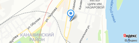 СанРено на карте Нижнего Новгорода