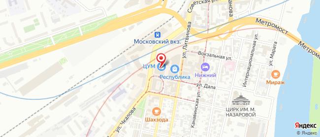 Карта расположения пункта доставки Нижний Новгород Фильченкова в городе Нижний Новгород