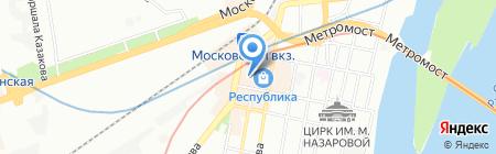 Ближнее белье на карте Нижнего Новгорода