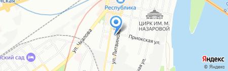 Золотые пески на карте Нижнего Новгорода