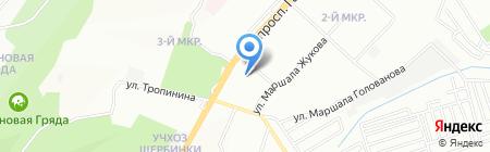Смайл на карте Нижнего Новгорода