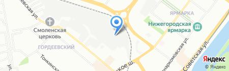 Аконит на карте Нижнего Новгорода
