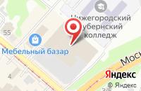 Схема проезда до компании Кухни Легко в Нижнем Новгороде