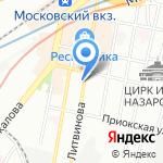 Пункт приема стеклотары и макулатуры на карте Нижнего Новгорода