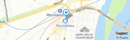 Пастораль на карте Нижнего Новгорода