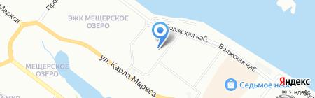 Сгомонь на карте Нижнего Новгорода