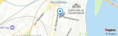 Виста Спорт НН на карте Нижнего Новгорода