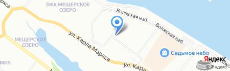 Солнечный ветер на карте Нижнего Новгорода