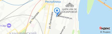 Строймаркет на карте Нижнего Новгорода
