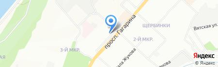 Оптика на карте Нижнего Новгорода