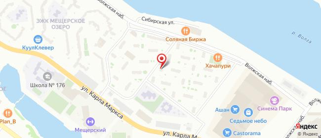 Карта расположения пункта доставки Нижний Новгород Карла Маркса в городе Нижний Новгород