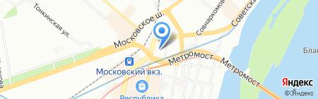 Благословение на карте Нижнего Новгорода