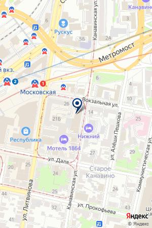 СЕТЬ ТОРГОВЫХ ТОЧЕК АГЕНТСТВО РОСПЕЧАТЬ на карте Нижнего Новгорода