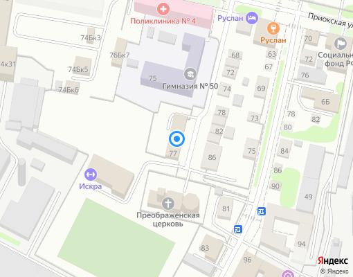 Управляющая компания «Эталон Сервиса» на карте Нижнего Новгорода