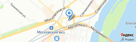 Дирижабль на карте Нижнего Новгорода