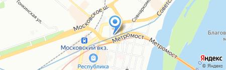 Сотмаркет на карте Нижнего Новгорода