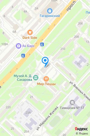 Дом 212А по просп. Гагарина на Яндекс.Картах