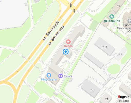 Товарищество собственников недвижимости «Бетанкура 6» на карте Нижнего Новгорода