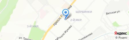 МясновЪ на карте Нижнего Новгорода