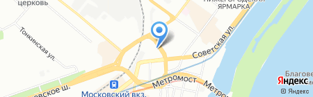 Привокзальное на карте Нижнего Новгорода