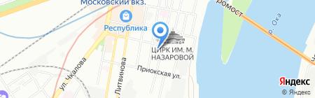Втормеко на карте Нижнего Новгорода
