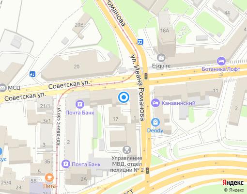 Управляющая компания «ДК Канавинского района» на карте Нижнего Новгорода