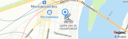 Ника на карте Нижнего Новгорода