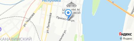На Приокской на карте Нижнего Новгорода