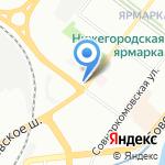 ЛАТТЕ на карте Нижнего Новгорода