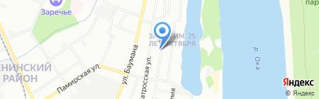 Симона на карте Нижнего Новгорода
