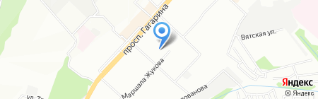 Детский сад №210 на карте Нижнего Новгорода