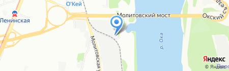 ТЭК на карте Нижнего Новгорода