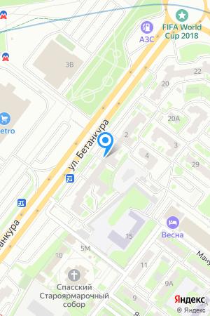 Дом 2 по ул. Бетанкура на Яндекс.Картах