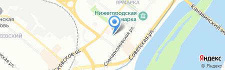 Средняя общеобразовательная школа №143 на карте Нижнего Новгорода