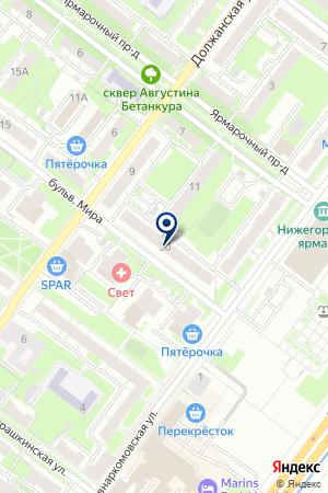 ВЕНСКИЙ БАР на карте Нижнего Новгорода