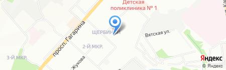 Средняя общеобразовательная школа №32 на карте Нижнего Новгорода