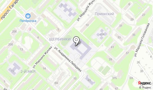 Средняя общеобразовательная школа №32. Схема проезда в Нижнем Новгороде