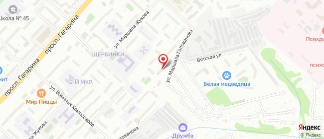 Карта расположения пункта доставки Халва в городе Нижний Новгород