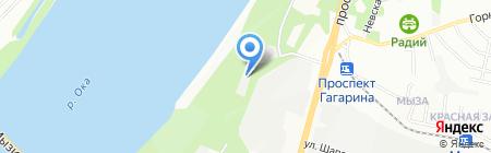 Настрой на карте Нижнего Новгорода